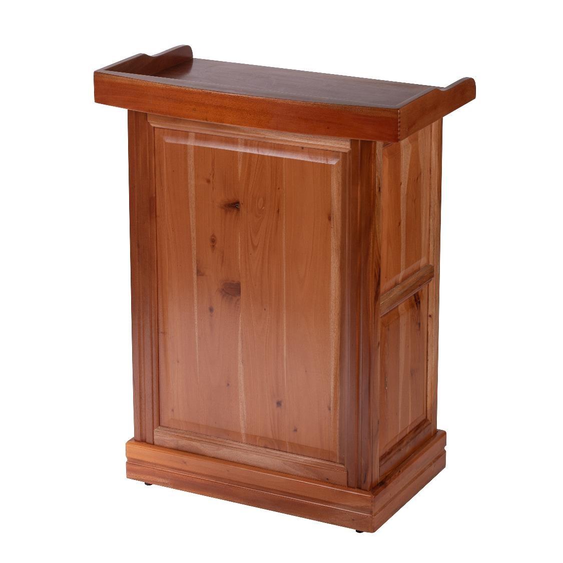 實木講桌 (正面)